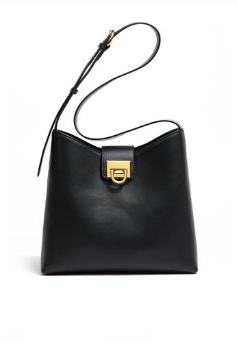 Twenty Eight Shoes black VANSA Leather Crossbody Bucket Bag VBW-Cb09201 B0CF7AC71865F6GS_1