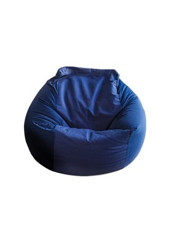 HOUZE HOUZE - Laxla Bean Bag - Navy Blue FA3BEHLDAE21DFGS_1