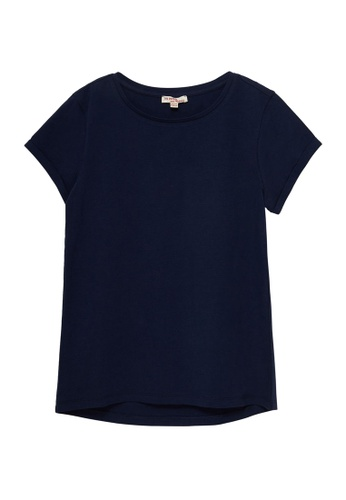 Du Pareil Au Même (DPAM) navy Plain T-shirt 6BDF3KA7EC5E73GS_1