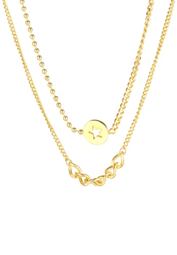 CELOVIS gold CELOVIS - Sirius Star Disc Pendant with Multi-Layer Necklace in Gold 786D3AC34BCED2GS_1
