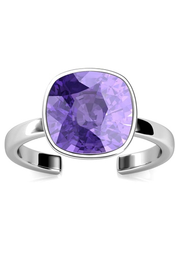 Her Jewellery silver Amethyst Ring (Tanzanite) -Made with premium grade crystals from Austria AD810ACDC7AAB4GS_1