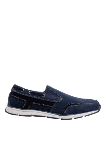 Hush Puppies navy Hush Puppies Men's Deshler Casual Slip On Sneaker - Navy DAD47SHD359176GS_1