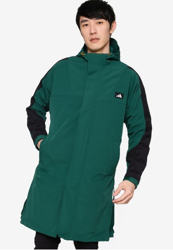 ADIDAS green Urban Long Jacket DA90EAA7389084GS_1