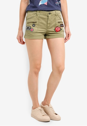 Superdry green Rookie Utility Shorts 87B55AAA6D4FBFGS_1