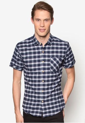 捲袖格紋短袖襯衫, 服飾esprit旗艦店, 襯衫