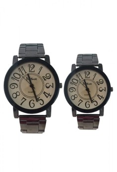 MSek Stainless Couple Watch