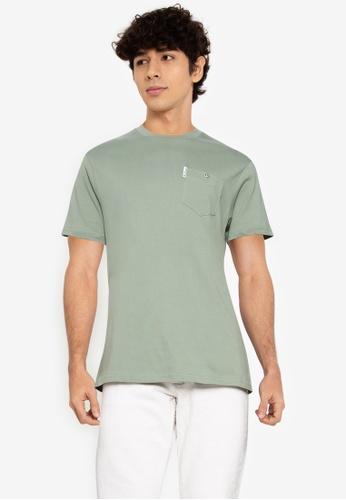 Ben Sherman green Signature Pocket Tee 70EABAAFC5D2C5GS_1