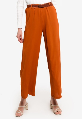 LC Waikiki red Knit Belted Trousers 7799AAA53E21EDGS_1