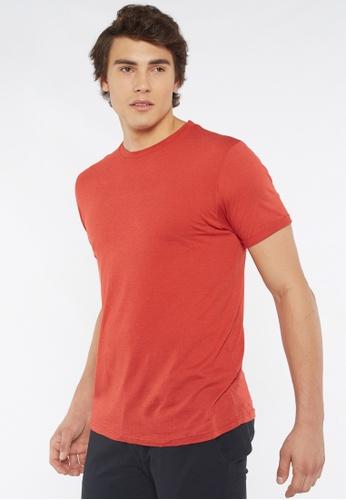 Août red Août - Mens Plain Essential Crew Neck Cotton T-shirt 0C988AAAF24E80GS_1