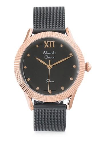 Alexandre Christie black Alexandre Christie Jam Tangan Wanita - Black Rosegold - Stainless Steel - 2859 LHBBRBA 2F277AC8D180EDGS_1