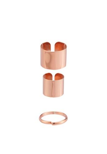 三層堆疊開口戒指組, 飾品esprit旗艦店配件, 飾品配件