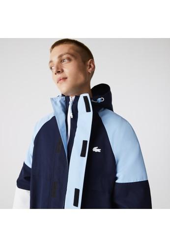 Lacoste blue Men's Heritage Water-Resistant Colorblock Jacket 19692AACA7F49EGS_1