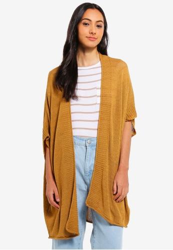Cotton On yellow Longline Short Sleeves Kimono 2BB4FAADB981B6GS_1