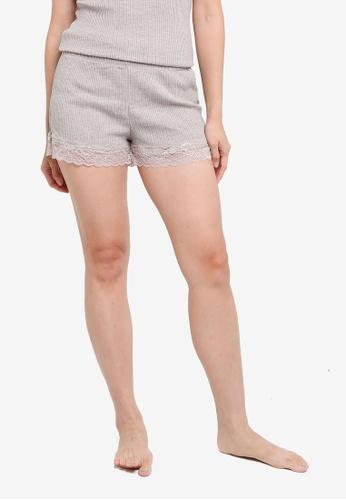 KOTON pink Lounge Lace Shorts DDEEEAA5103C32GS_1