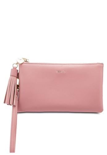 Mel&Co pink Faux Leather Clutch Wristlet 5C812ACCC58CB0GS_1