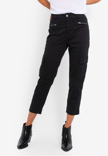 Cotton On black Geenie Utility Chino Pants C8F3AAA40A6410GS_1