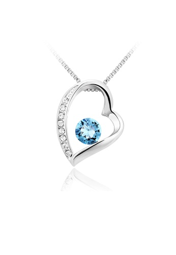 OUXI blue and silver OUXI Love Necklace OU821AC04VHFMY_1