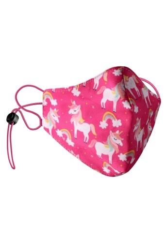 Rokarola pink Adjustable Elastic Earloop Mask Kids - Unicorn Pink (Water Repellent - Anti-Bacteria) D1258ES965B2D3GS_1