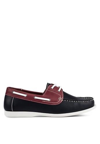 JAXON black and multi Casual Faux Leather Boat Shoes E0FE7SHE932360GS_1