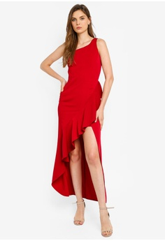 0a64d502974 Preen   Proper red One Shoulder Ruffle Maxi Dress E2887AAE549675GS 1