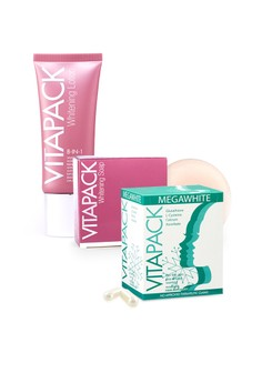 VITAPACK Megawhite, 8-in-1 Whitening Lotion and 8-in-1 Whitening Soap Value Set