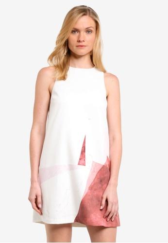 ZALORA white Angular Printed Shift Dress 11794AA5952FF0GS_1