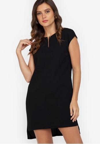 ZALORA WORK black Bar Detail Mini Dress 523C4AA4CE5BC5GS_1