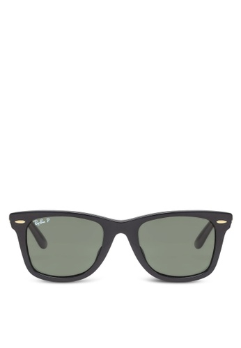 c9861d13af2 Ray-Ban black Original Wayfarer RB2140 Polarized Sunglasses RA896GL01BZQMY 1