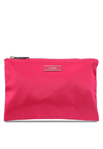 Mango pink Satined Effect Cosmetic Bag 54684ACF3E4770GS_1