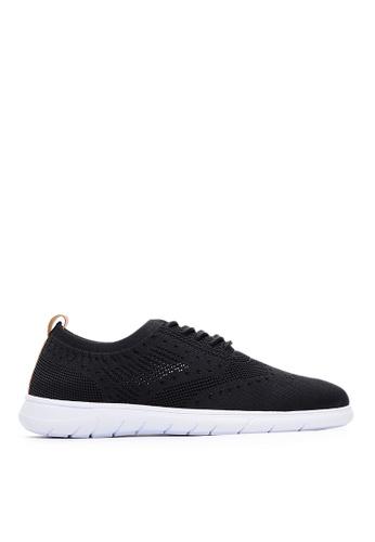 Life8 black Sport Lightweight Material Stitching Sneakers-09880-Black ABD11SH8D0DE14GS_1