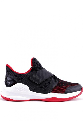 World Balance black and red Court Dynasty Men's Basketball Shoes 1E638SH65F6698GS_1
