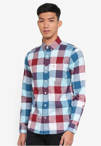 Hollister 綠色 Poplin Seas Patt Shirt 4D068AAD79E597GS_1