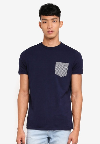OVS navy Patch Pocket Tee A3F51AAE3C859AGS_1