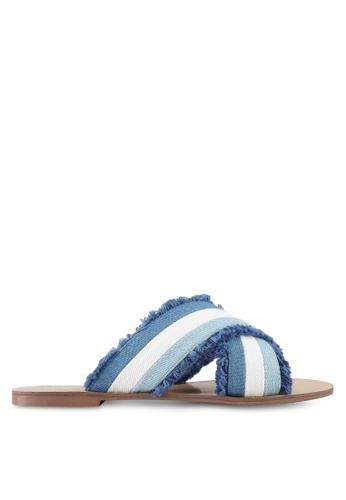 Something Borrowed blue Fringed Sandals BE56BSHAC7F397GS_1