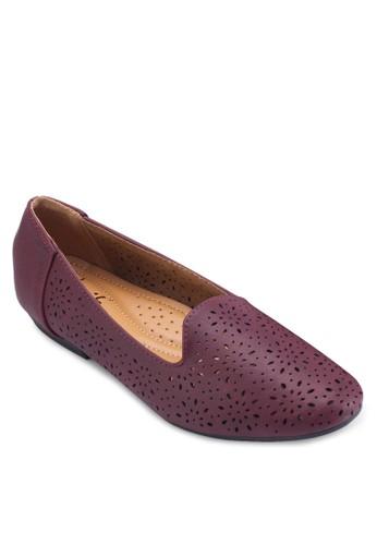 雕花仿皮樂福鞋, 女鞋, 船型esprit 羽絨外套鞋