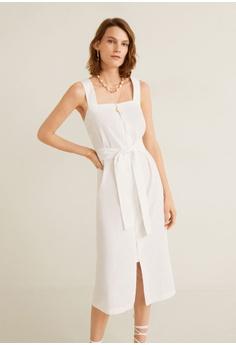 e4b4cd49573e11 Mango Linen Strap Dress S$ 89.90. Sizes XXS XS S M L