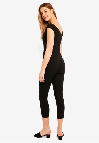 da9b436e54 Buy Miss Selfridge Black Bengaline Jumpsuit Online
