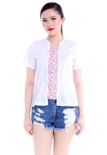 DhieVine Batik white and pink Anglaina Boenga Pink Kebaya 95CA1AA20106F6GS_1