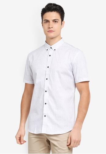 G2000 white Stroke Print Short Sleeve Shirt 8A7E9AA5DD9D69GS_1