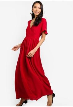 ZALORA orange Wrap Maxi Dress 02617AA631C025GS_1