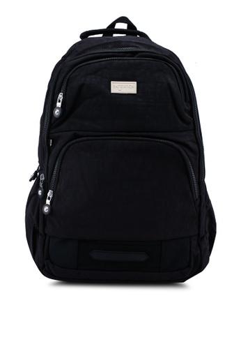 Bagstationz black Crinkled Nylon Backpack DBF8DAC470133FGS_1