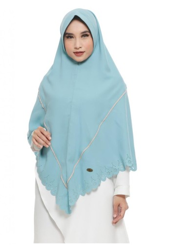 First Hijab blue Izzati Khimar Instant In Blue 996EAAAF4E8E39GS_1