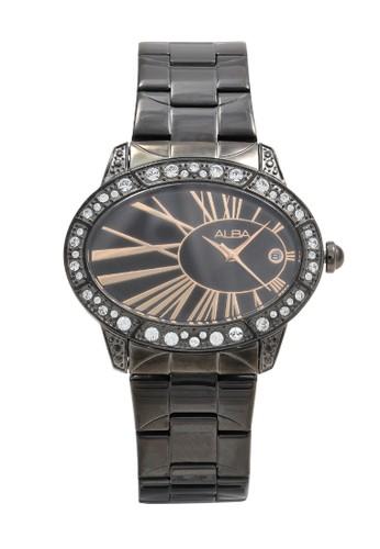 Alba black ALBA Jam Tangan Wanita - Black Rosegold - Stainless Steel - AXT305 A1B7EACE705C45GS_1