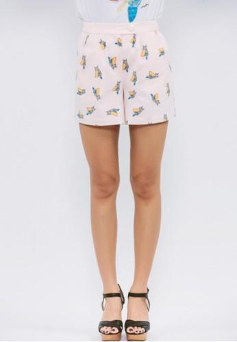 有機棉貓頭鷹印花短褲, 服飾esprit 內衣, 休閒短褲