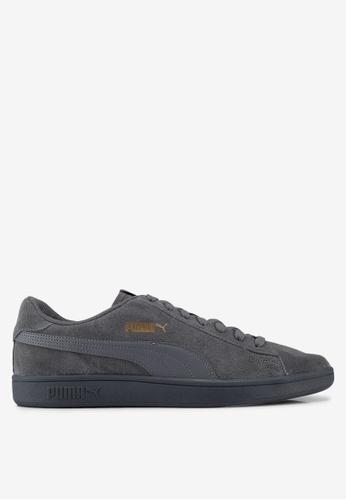 Puma grey Sportstyle Core Puma Smash V2 Shoes 7C015SH715E9B7GS_1