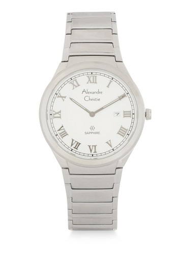 Alexandre Christie silver Alexandre Christie Jam Tangan Pria - Silver White - Stainless Steel - 8538 MDBSSSL 0081AACD8E156AGS_1