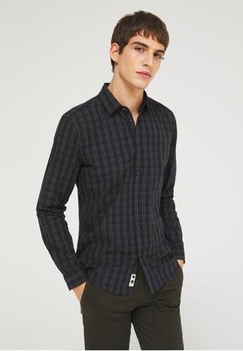 Sisley grey Slim Fit Shirt 5CEDEAA7ECCFECGS_1