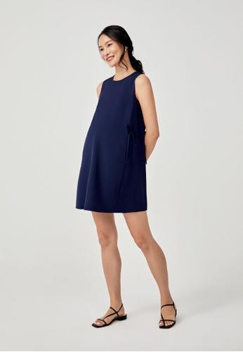 Love, Bonito blue Della Side Tie Shift Dress 990F0AA3B00480GS_1