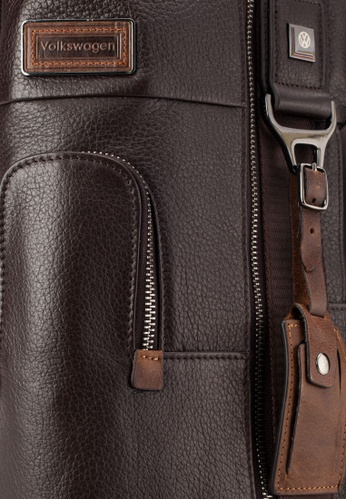 Volkswagen brown Volkswagen Genuine Leather Chest Bag VO089AC38EIFMY_1