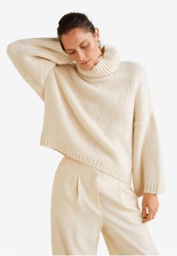 Mango beige Wool-Blend Knit Sweater FE862AA6AE8B2CGS_1